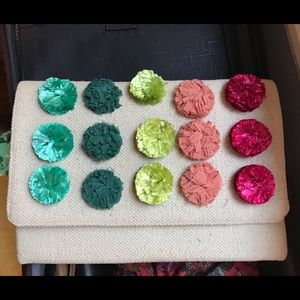 Stella & Dot St. Barth's Multicolor Clutch Rainbow